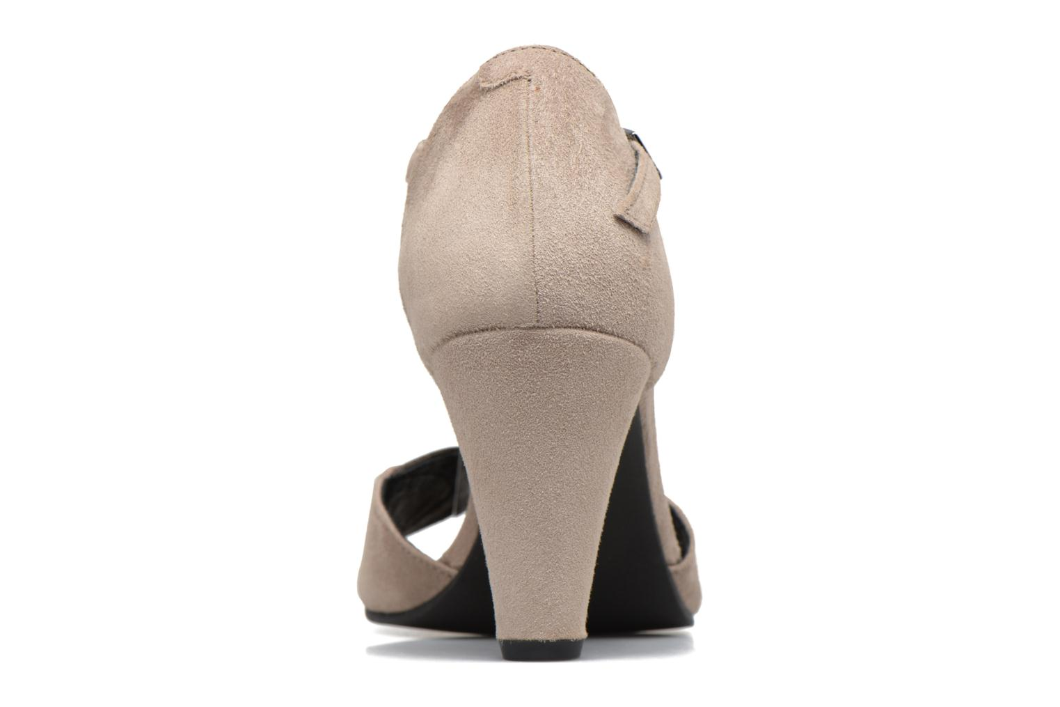 High heels Georgia Rose Hepomi Grey view from the right