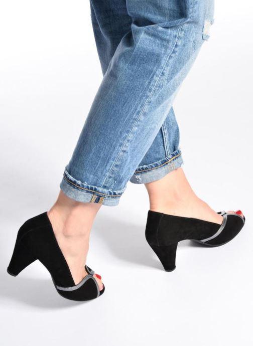 High heels Georgia Rose Hesolea Black view from underneath / model view