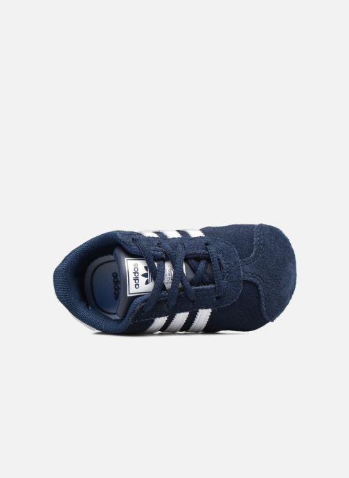 check out 1499b 6fc01 Baskets adidas originals Gazelle Crib Bleu vue gauche