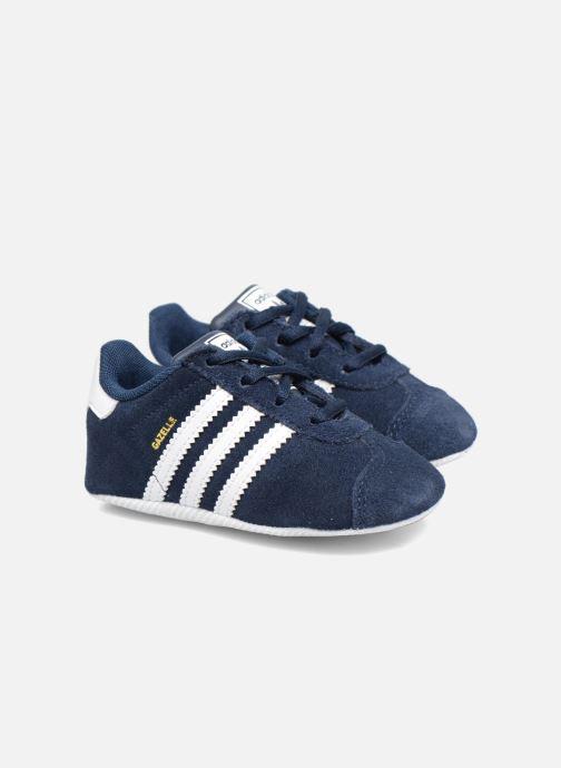 the best attitude 5d42c a0c62 Baskets adidas originals Gazelle Crib Bleu vue détail paire