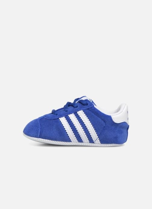 Baskets adidas originals Gazelle Crib Bleu vue face
