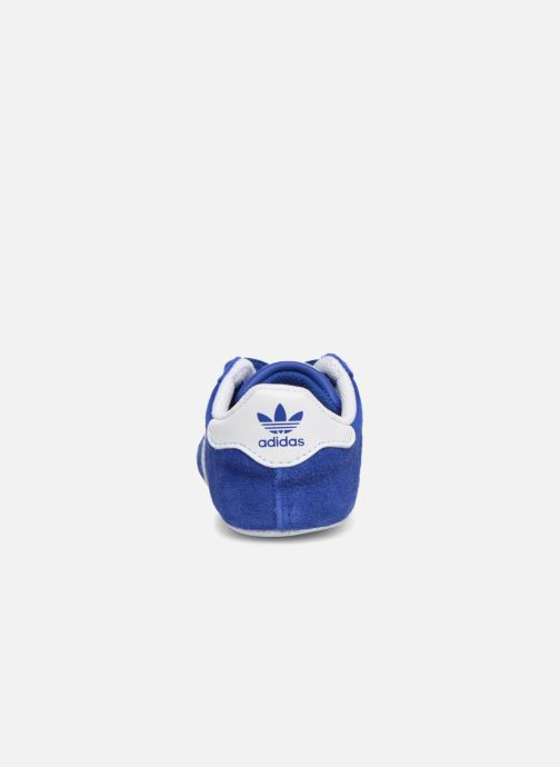 Baskets adidas originals Gazelle Crib Bleu vue droite