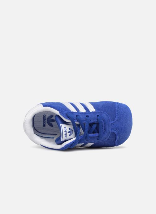 Baskets adidas originals Gazelle Crib Bleu vue gauche