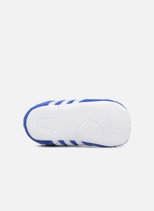 Baskets adidas originals Gazelle Crib Bleu vue haut