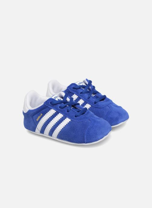 Baskets adidas originals Gazelle Crib Bleu vue détail/paire