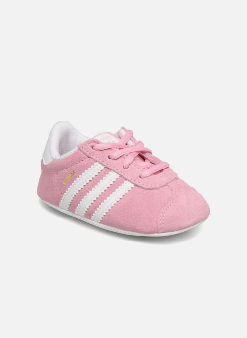 Baskets adidas originals Gazelle Crib Rose vue 3/4