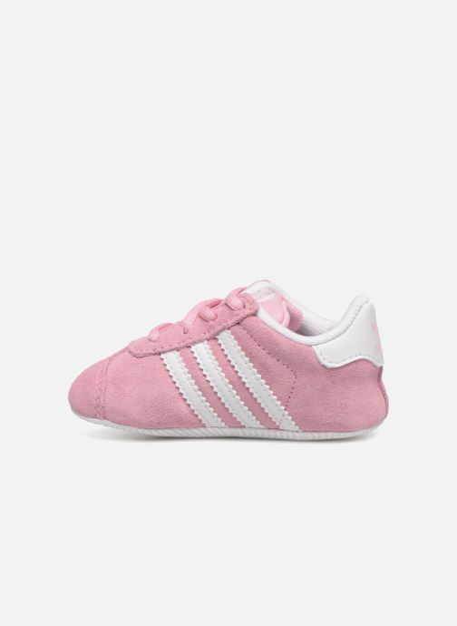 Baskets adidas originals Gazelle Crib Rose vue face