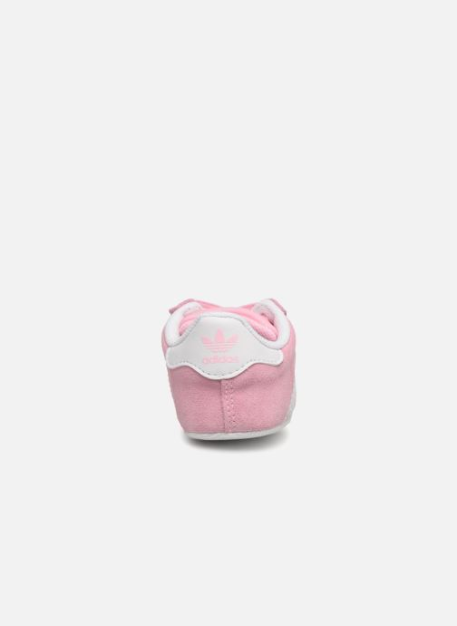 Baskets adidas originals Gazelle Crib Rose vue droite