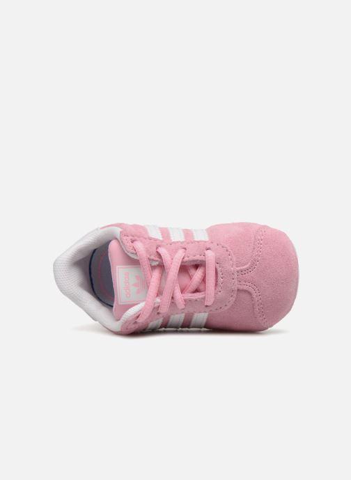Baskets adidas originals Gazelle Crib Rose vue gauche