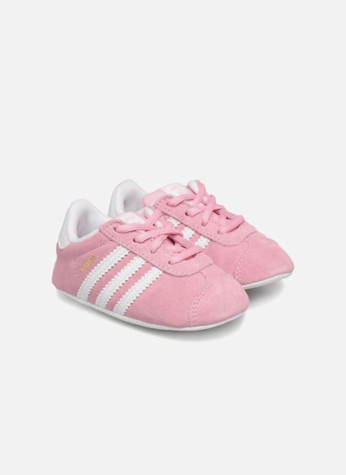 Baskets adidas originals Gazelle Crib Rose vue détail/paire