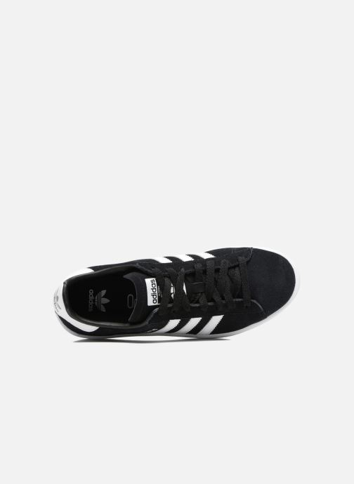 Baskets Adidas Originals Campus J Noir vue gauche