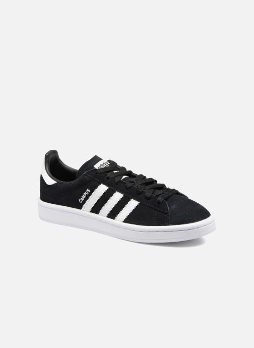 Baskets Adidas Originals Campus J Noir vue détail/paire