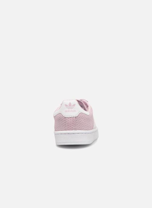 Sneakers adidas originals Campus El I Rosa Bild från höger sidan