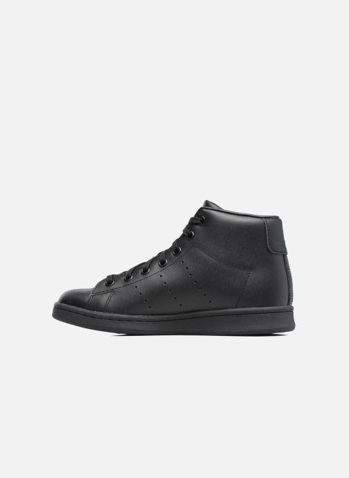 Sneakers adidas originals Stan Smith Mid J Zwart voorkant
