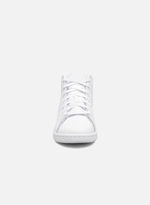 super popular e3d73 df8b6 Baskets adidas originals Stan Smith Mid J Blanc vue portées chaussures