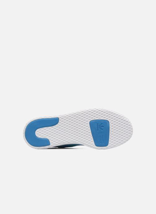 Baskets adidas originals Pharrell Williams Tennis Hu J Bleu vue haut