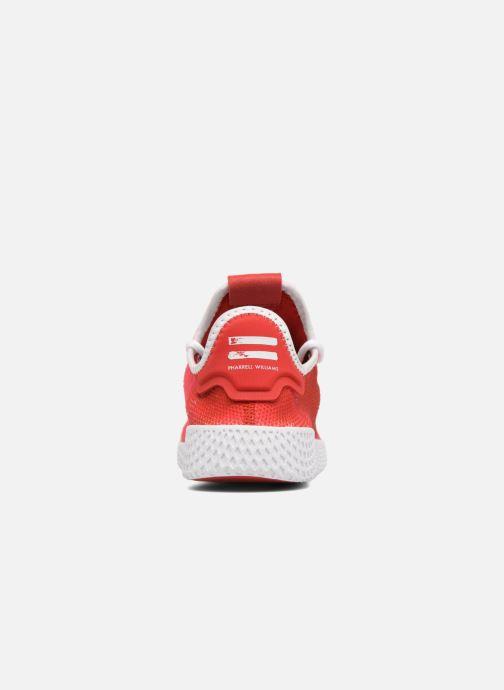 Baskets adidas originals Pharrell Williams Tennis Hu J Rouge vue droite