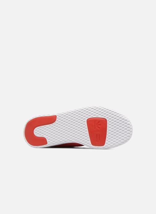 Baskets adidas originals Pharrell Williams Tennis Hu J Rouge vue haut