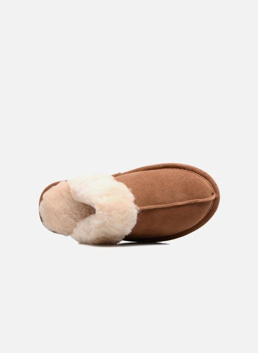 Pantoffels Giesswein Menden Bruin links
