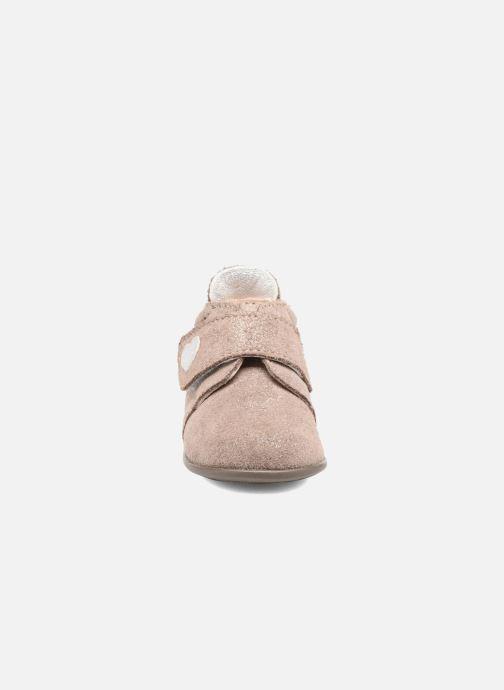 Chaussons Bopy Palma Or et bronze vue portées chaussures