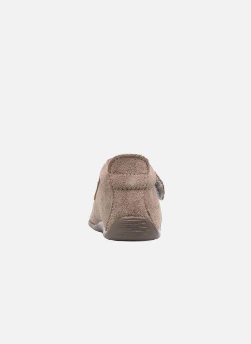 Chaussons Bopy Palma Or et bronze vue droite