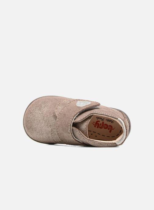 Chaussons Bopy Palma Or et bronze vue gauche