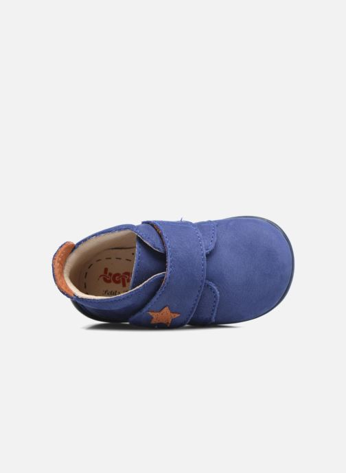 Slippers Bopy Pavel Blue view from the left
