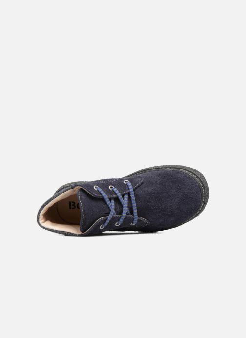 Zapatos con cordones Bopy Vritish Azul vista lateral izquierda