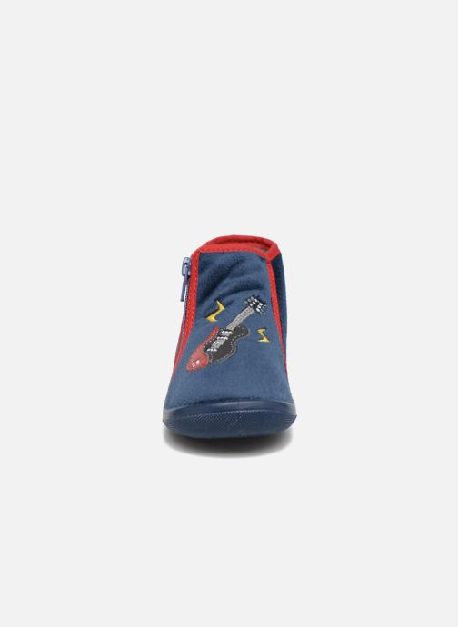 Chaussons Bopy Aero Bleu vue portées chaussures