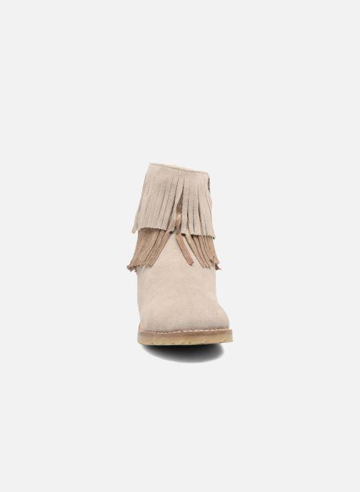 Bottines et boots Bopy Harissa Beige vue portées chaussures