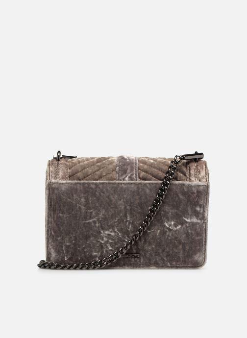 Handtaschen Rebecca Minkoff Chevron Quilted Small Love Crossbody Velvet grau ansicht von vorne