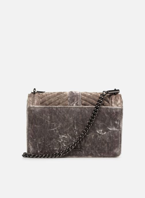 Sacs à main Rebecca Minkoff Chevron Quilted Small Love Crossbody Velvet Gris vue face