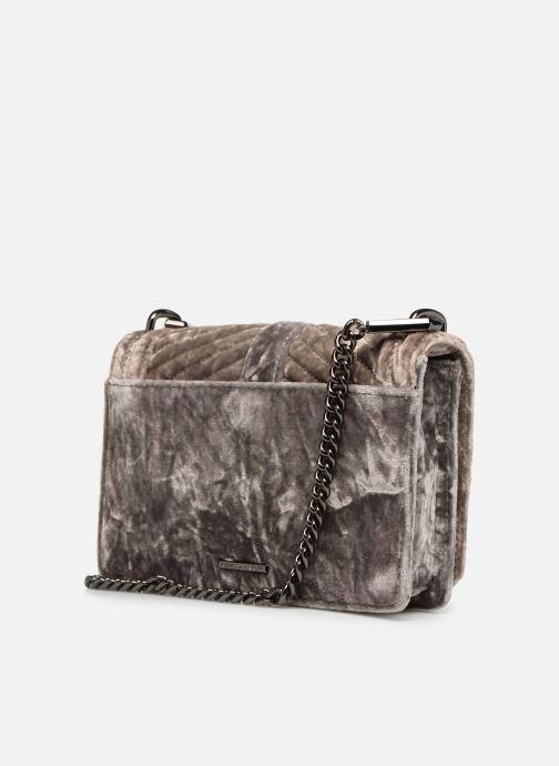 Handtaschen Rebecca Minkoff Chevron Quilted Small Love Crossbody Velvet grau ansicht von rechts