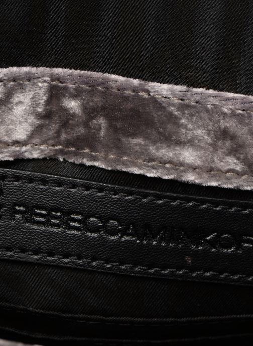 Handtaschen Rebecca Minkoff Chevron Quilted Small Love Crossbody Velvet grau ansicht von hinten