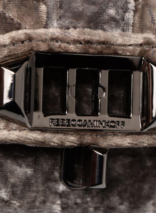 Handtaschen Rebecca Minkoff Chevron Quilted Small Love Crossbody Velvet grau ansicht von links