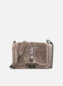 Bolsos de mano Bolsos Chevron Quilted Small Love Crossbody Velvet