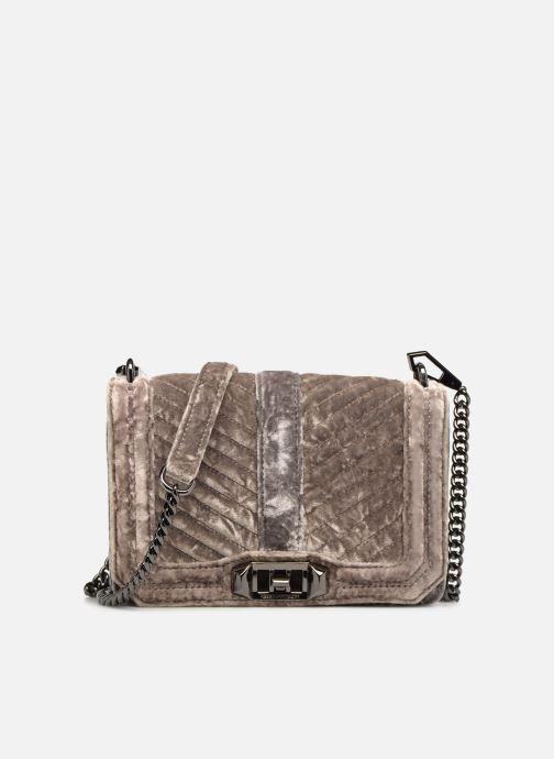 Handtaschen Rebecca Minkoff Chevron Quilted Small Love Crossbody Velvet grau detaillierte ansicht/modell