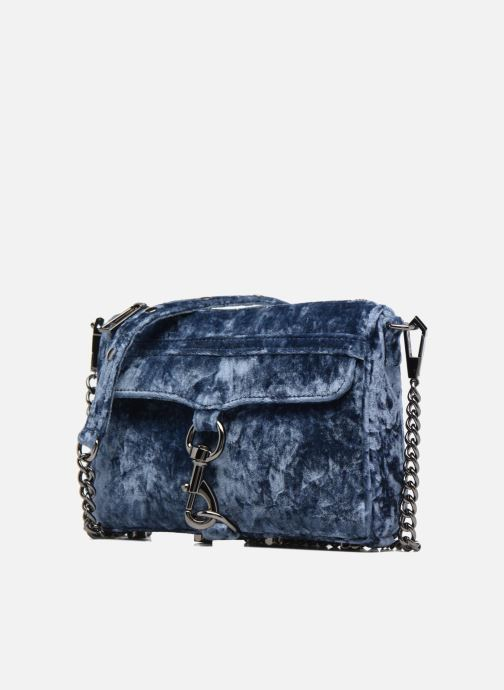 Handbags Rebecca Minkoff Mini Mac Velvet Blue model view