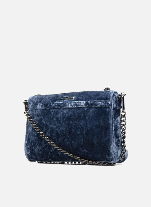 Handbags Rebecca Minkoff Mini Mac Velvet Blue view from the right