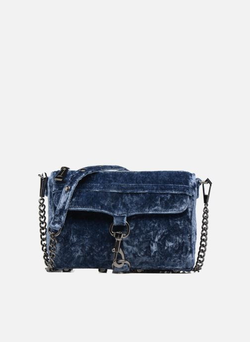 Handbags Rebecca Minkoff Mini Mac Velvet Blue detailed view/ Pair view
