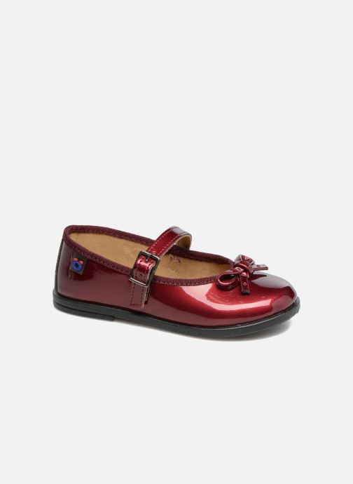 Ballet pumps Osito by Conguitos Lola Burgundy detailed view/ Pair view