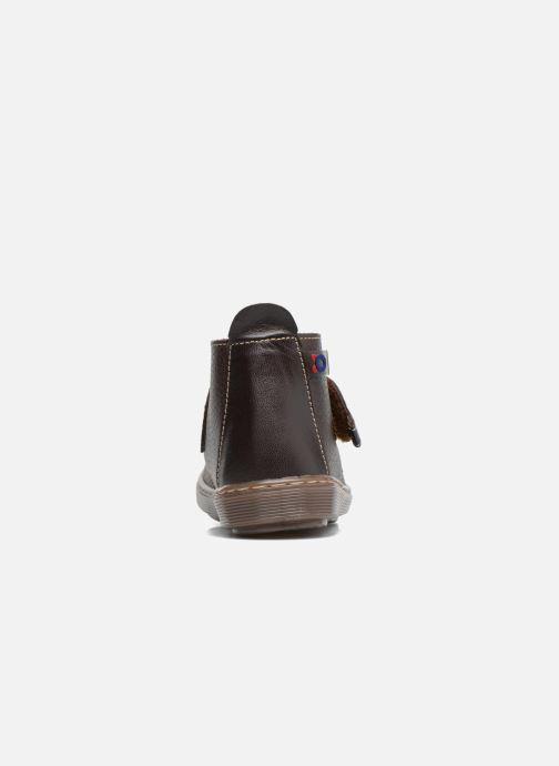 Zapatos con velcro Osito by Conguitos Nino Marrón vista lateral derecha