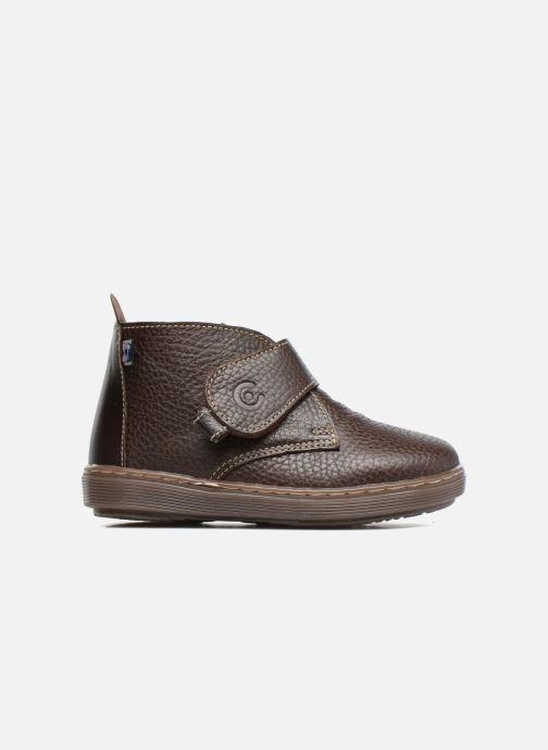 Chaussures à scratch Osito by Conguitos Nino Marron vue derrière