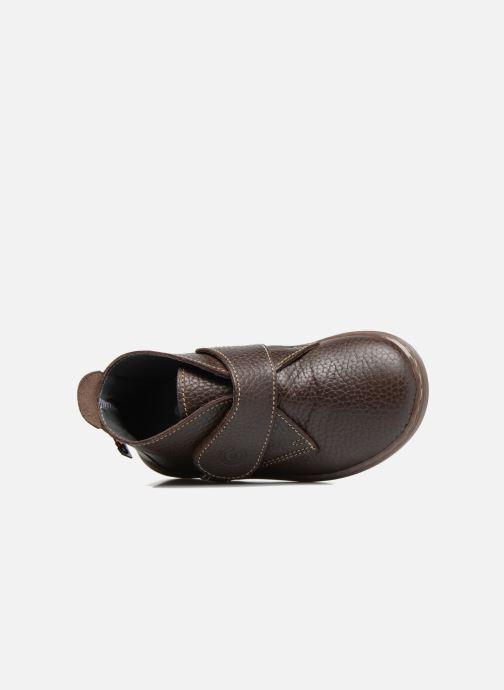 Zapatos con velcro Osito by Conguitos Nino Marrón vista lateral izquierda