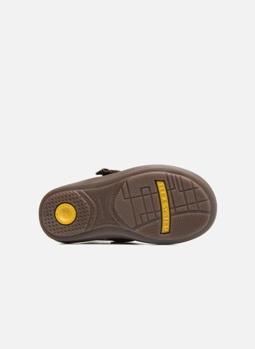 Chaussures à scratch Osito by Conguitos Nino Marron vue haut