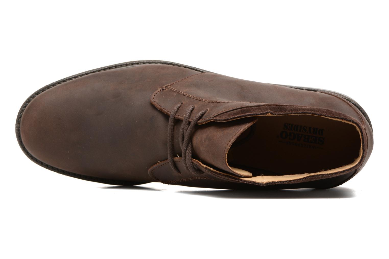 Bottines et boots Sebago Turner Chukka Waterproof Marron vue gauche