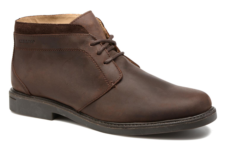Bottines et boots Sebago Turner Chukka Waterproof Marron vue détail/paire