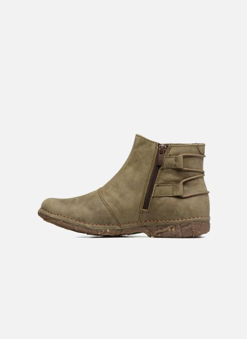 Ankle boots El Naturalista Angkor N917 Green front view