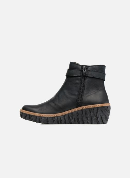 Ankle boots El Naturalista Myth Yggdrasil N5133 Black front view