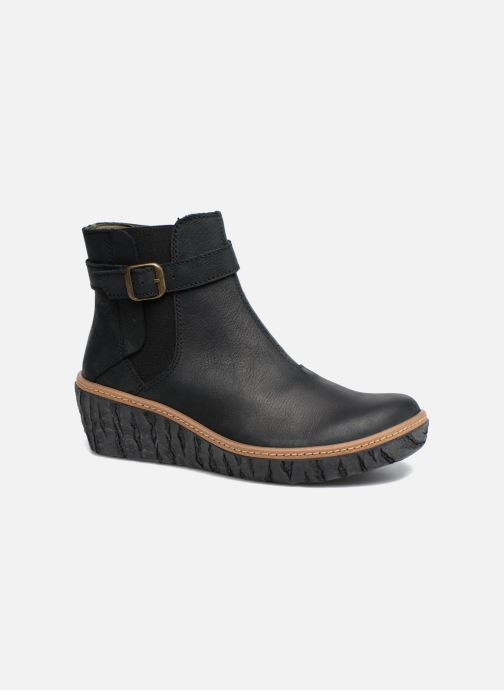 Ankle boots El Naturalista Myth Yggdrasil N5133 Black detailed view/ Pair view
